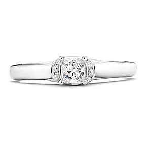 Tolkowsky 14ct White Gold 1/2 Carat Diamond Solitaire Ring - Product number 3874613