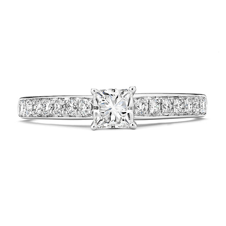 Tolkowsky 14ct White Gold 2/3 Carat Diamond Solitaire Ring - Product number 3875210