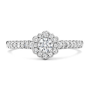Tolkowsky 14ct White Gold 1/2 Carat Diamond Solitaire Ring - Product number 3875644