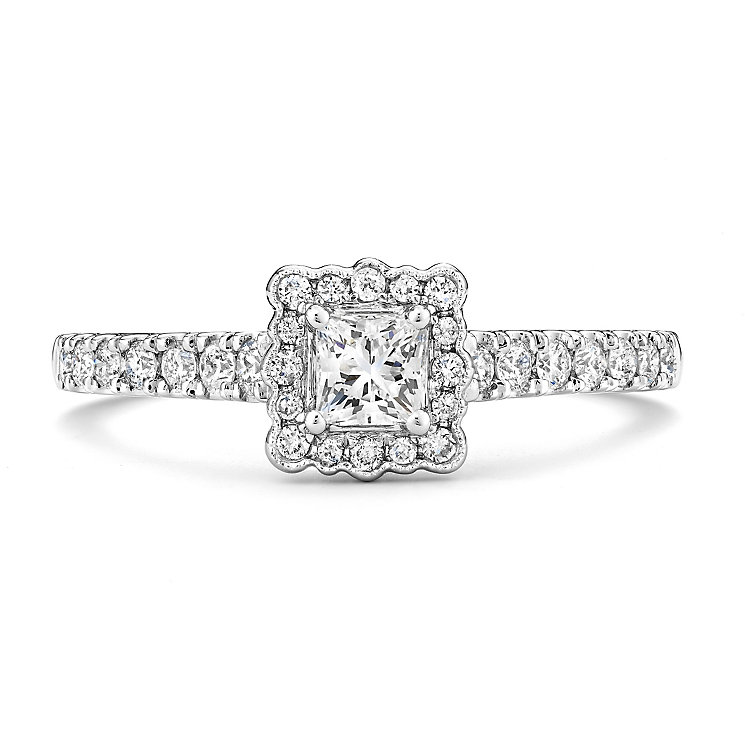 Tolkowsky 14ct White Gold 1/2 Carat Diamond Solitaire Ring - Product number 3875792