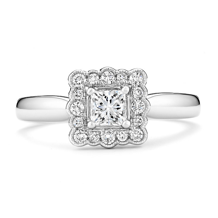 Tolkowsky 14ct White Gold 1/2 Carat Diamond Solitaire Ring - Product number 3875946