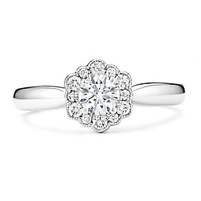 Tolkowsky 14ct White Gold 1/2 Carat Diamond Solitaire Ring - Product number 3876098