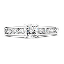 Tolkowsky 14ct White Gold 1 Carat Diamond Solitaire Ring - Product number 3876233