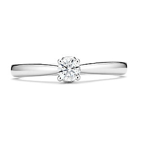 Tolkowsky 14ct White Gold 1/4 Carat Diamond Solitaire Ring - Product number 3876780