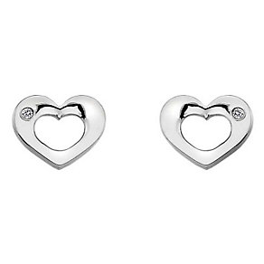 Hot Diamonds Emerge Sterling Silver Heart Stud Earrings - Product number 3877779