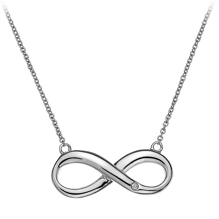 Hot Diamond Sterling Silver Infinity Necklet - Product number 3877817
