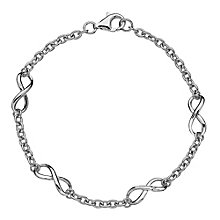 Hot Diamond Sterling Silver Infinity Bracelet - Product number 3877825