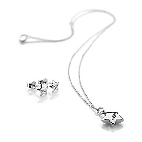 Hot Diamonds Sterling Silver Star Earring & Pendant Set - Product number 3877833