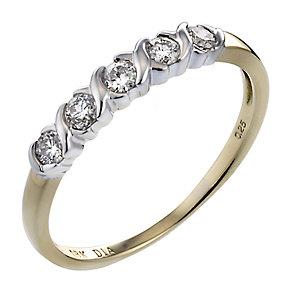 18ct Gold Quarter carat Diamond Eternity - Product number 3881458