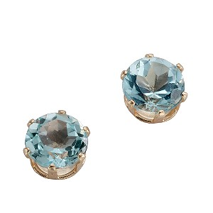 9ct Yellow Gold Claw Set Topaz Stud Earrings