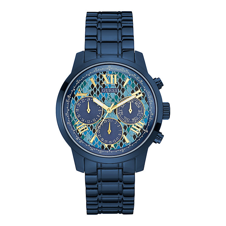 Guess Ladies' Blue Dial Blue Ion-Plated Bracelet Watch - Product number 3883817