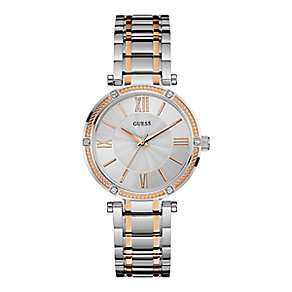 Guess Ladies' Two Colour Stainless Steel Bracelet Watch - Product number 3883833
