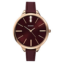 Sekonda Editions Ladies' Rose Gold Plated Red Watch - Product number 3884554