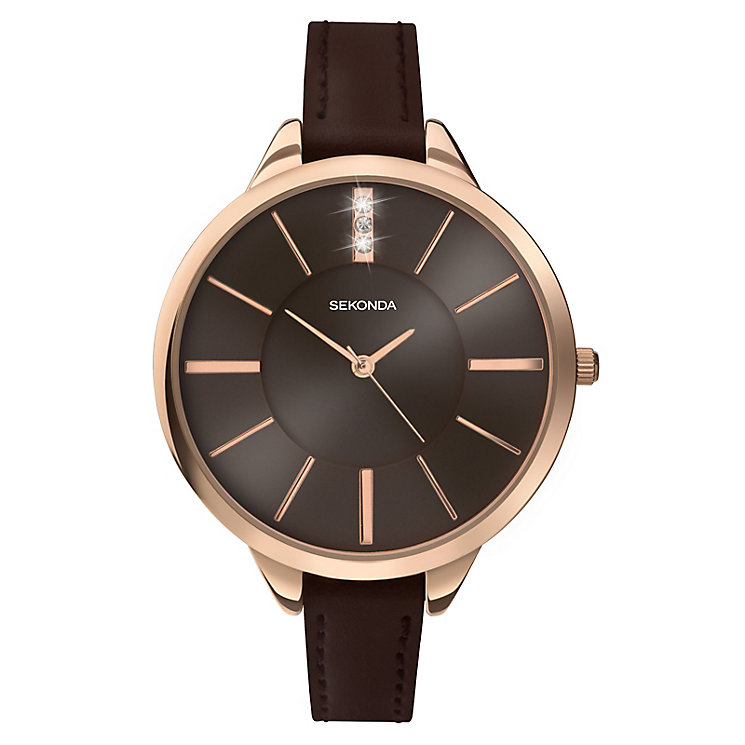 Sekonda Editions Ladies' Rose Gold Plated Watch - Product number 3884589