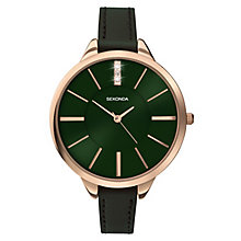 Sekonda Editions Ladies' Rose Gold Green Strap Watch - Product number 3884597