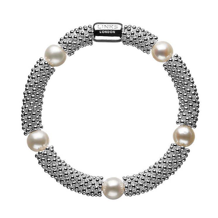 Links of London Effervescence Silver Pearl Star Bracelet - Product number 3884635