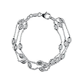Links of London Sterling Silver Beaded Three Row Bracelet M - Product number 3884805