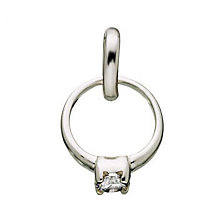 Links of London Sterling Silver Rock 'Diamond' Ring Charm - Product number 3885119