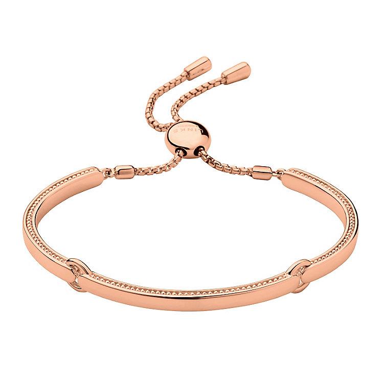 Links of London Narrative 18ct Rose Gold Vermeil Bracelet - Product number 3885445