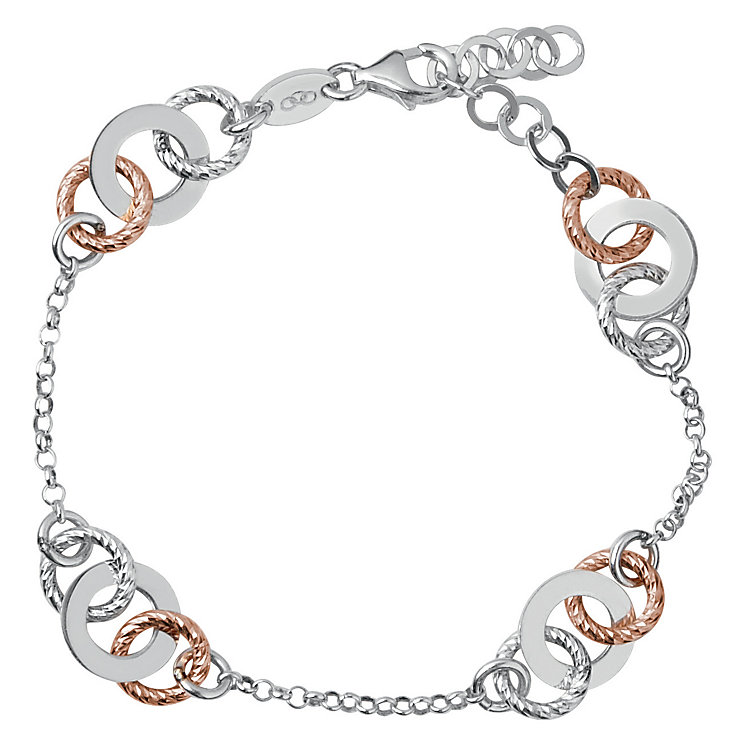 Links of London Aurora Rose Gold Vermeil Link Bracelet - Product number 3885852