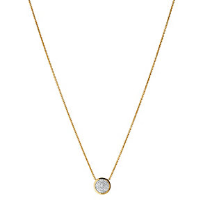 Links of London 18ct Gold Vermeil Diamond Round Necklace - Product number 3886042