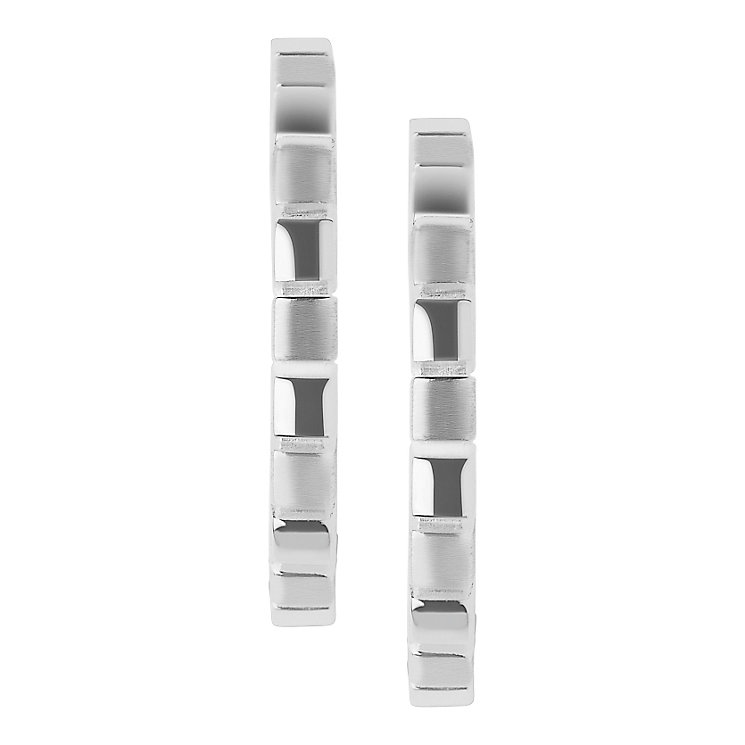 Links of London Cubist Sterling Silver Hoop Earrings - Product number 3887413