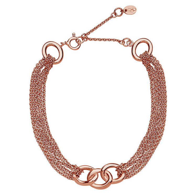 Links of London 18ct Rose Gold Vermeil Multi Chain Bracelet - Product number 3887731