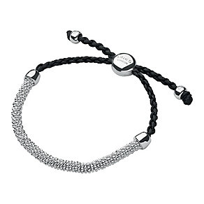 Links of London Effervescence Silver & Grey Cord Bracelet XS - Product number 3887782