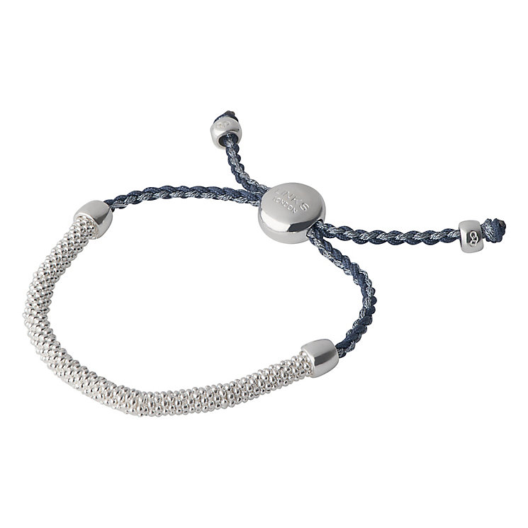 Links of London Effervescence Silver & Blue Cord Bracelet XS - Product number 3887871