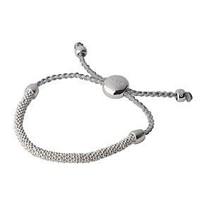 Links of London Effervescence Silver Pewter Cord Bracelet XS - Product number 3887898