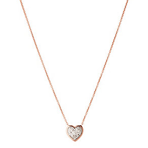 Links of London Diamond Heart Rose Gold Vermeil Necklace - Product number 3888045