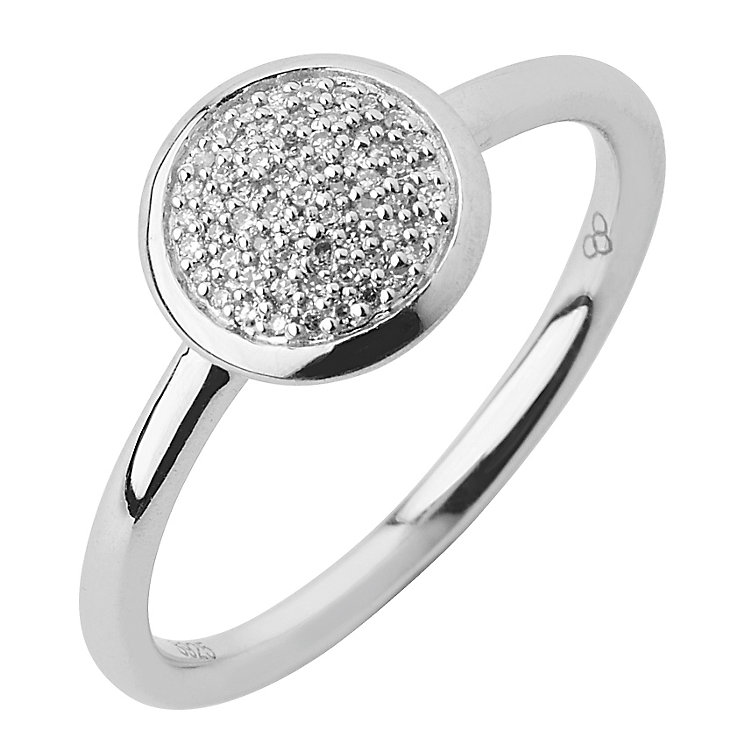 Links of London Sterling Silver Diamond Round Pave Ring L - Product number 3888088
