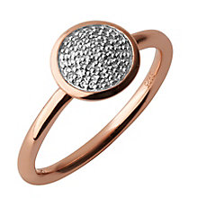 Links of London 18ct Rose Gold Vermeil Diamond Pave Ring M - Product number 3888150