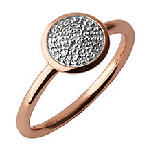 Links of London 18ct Rose Gold Vermeil Diamond Pave Ring L - Product number 3888169