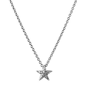 Links of London Sterling Silver Diamond Pave Star Necklace - Product number 3888177