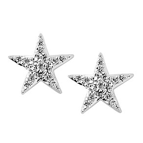 Links of London Sterling Silver Diamond Pave Star Studs - Product number 3888185