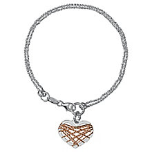 Links of London Dreamcatcher Sterling Silver Heart Bracelet - Product number 3888258
