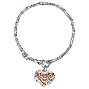 Links of London Dreamcatcher Sterling Silver Heart Bracelet - Product number 3888258