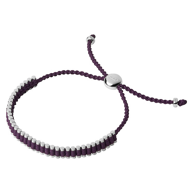 Links of London Silver & Purple Mini Friendship Bracelet - Product number 3888320