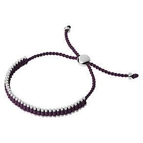 Links of London Silver & Purple Mini Friendship Bracelet - Product number 3888320