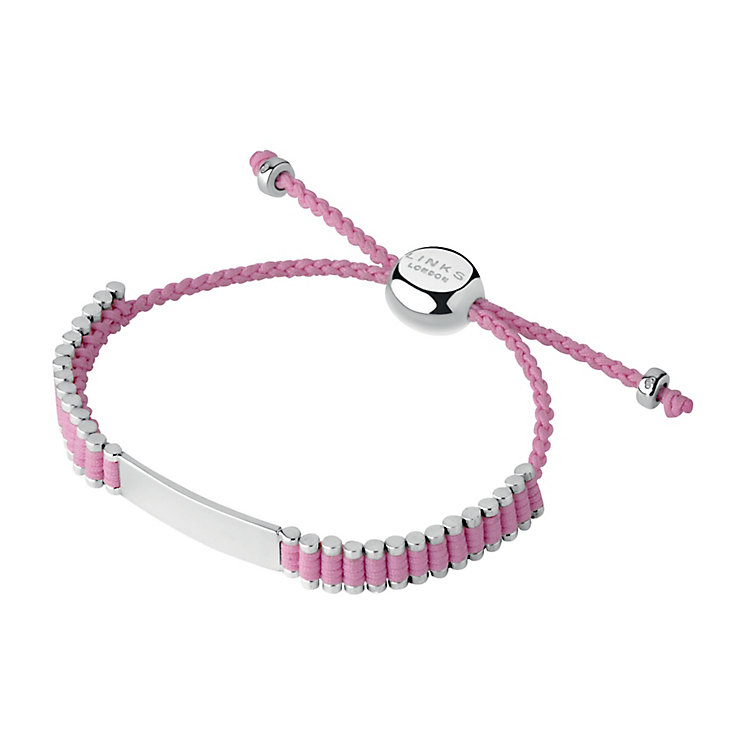 Links of London Friendship Sterling Silver Pink ID Bracelet - Product number 3888398