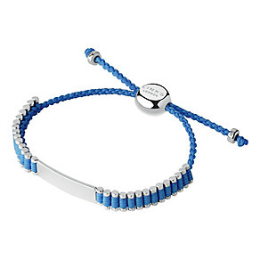 Links of London Friendship Sterling Silver Blue ID Bracelet - Product number 3888401