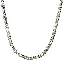 Links of London Sterling Silver Belcher Box Chain 43cm - Product number 3888436