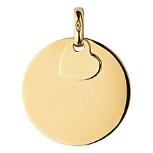 Links of London 18ct Gold Vermeil Large Disc Pendant Charm - Product number 3888487