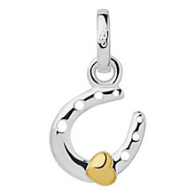 Links of London Gold-Plated Silver Horseshoe Heart Charm - Product number 3888738