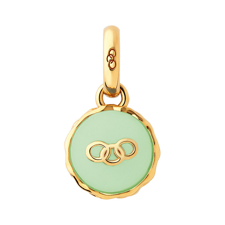 Links of London Gold-Plated Silver Pistachio Macaron Charm - Product number 3888924