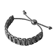 Links of London Men's Silver & Ruthenium Friendship Bracelet - Product number 3889114