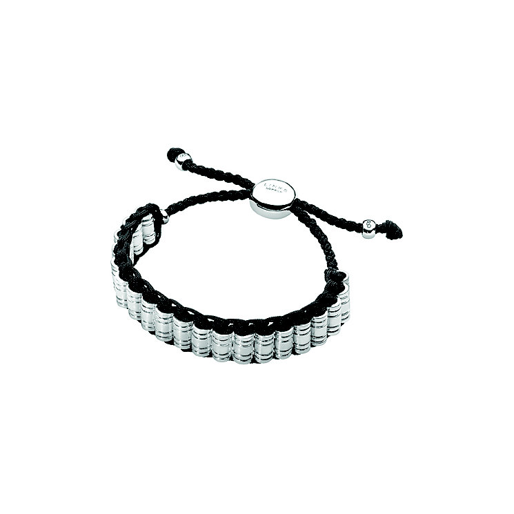 Links of London Men's Venture Sterling Silver Black Bracelet - Product number 3889211