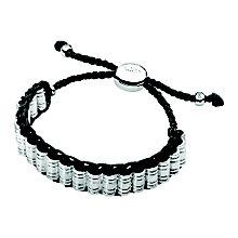 Links of London Men's Venture Sterling Silver Black Bracelet - Product number 3889211