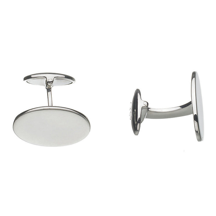 Links of London Men's Sterling Silver Classic Oval Cufflinks - Product number 3889300